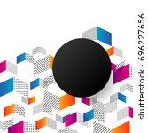 minimal arrow pattern  isolated ...   Shutterstock .eps vector #696227656