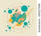 vector background  geometric... | Shutterstock .eps vector #696227968