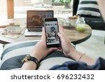 chiang mai  thailand   aug 15 ...   Shutterstock . vector #696232432