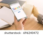 search and modern lifestyle...   Shutterstock . vector #696240472