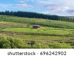 remote isolated shed in... | Shutterstock . vector #696242902