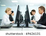 two rows of businesspeople...   Shutterstock . vector #69626131