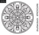 flower mandala   Shutterstock .eps vector #696261646