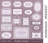 set of ornate vector frames and ... | Shutterstock .eps vector #69626317