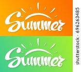 summer background. hand... | Shutterstock . vector #696263485