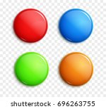 blank colorful glossy badges... | Shutterstock .eps vector #696263755