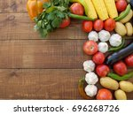 vegetables on the table | Shutterstock . vector #696268726