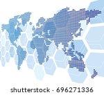world map vector  | Shutterstock .eps vector #696271336
