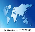 world map vector  | Shutterstock .eps vector #696271342