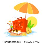 vector creative illustration of ... | Shutterstock .eps vector #696276742