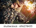 modern bow hunter | Shutterstock . vector #696278455