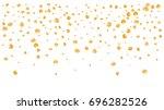 realistic vector rose petals... | Shutterstock .eps vector #696282526
