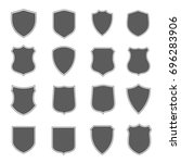 security black label set.  | Shutterstock . vector #696283906
