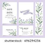 wedding invitation card... | Shutterstock .eps vector #696294256