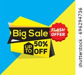 sale banner  template banner... | Shutterstock .eps vector #696294736