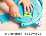 hand the child put the... | Shutterstock . vector #696294928