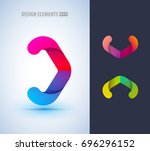 abstract origami arrow logo... | Shutterstock .eps vector #696296152
