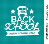 back to school card with white... | Shutterstock .eps vector #696298132