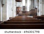 Inside An Empty Church In...