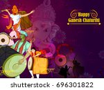 lord ganpati in vector for... | Shutterstock .eps vector #696301822