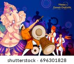 lord ganpati in vector for... | Shutterstock .eps vector #696301828