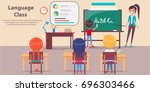 language class vector image... | Shutterstock .eps vector #696303466