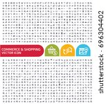 commerce and shopping icon set...   Shutterstock .eps vector #696304402