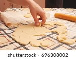 homemade cookies with raisins... | Shutterstock . vector #696308002