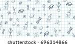 biology subject. back to school ... | Shutterstock .eps vector #696314866