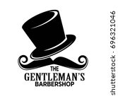 gentlemans barber shop black... | Shutterstock .eps vector #696321046