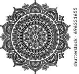 figure mandala for coloring and ...   Shutterstock .eps vector #696321655