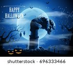 halloween background with... | Shutterstock .eps vector #696333466