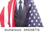 businessman cover with united... | Shutterstock . vector #696338776