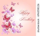 happy birthday vector design... | Shutterstock .eps vector #696358126