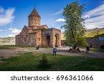 ancient armenian monastery...   Shutterstock . vector #696361066