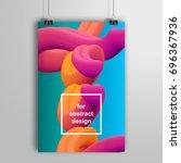 vector poster that hangs on... | Shutterstock .eps vector #696367936
