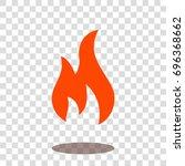 fire hot burn icon vector... | Shutterstock .eps vector #696368662