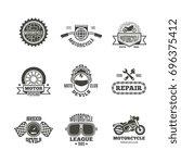 race  motorcycle  motorbike... | Shutterstock . vector #696375412