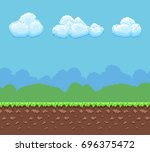 pixel 8bit game background with ...