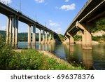 Railroad And Automobile Trestl...