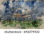 watercolour painting of...   Shutterstock . vector #696379432