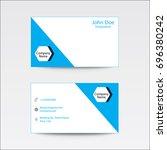 modern flat plain business card ...   Shutterstock .eps vector #696380242