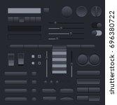 black buttons set. web...
