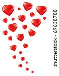flying hearts | Shutterstock . vector #69638788