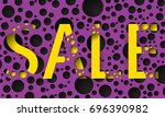 abstract background with... | Shutterstock . vector #696390982