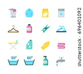 household washing  drying and... | Shutterstock . vector #696401092