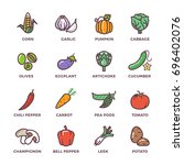 vegetables vegan raw food... | Shutterstock . vector #696402076