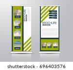 roll up vertical banner... | Shutterstock .eps vector #696403576
