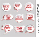 promo sale stickers and tags... | Shutterstock .eps vector #696407542