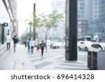 blurred background of traffic... | Shutterstock . vector #696414328